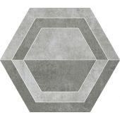 Paradyż Scratch dekoracja podłogowa Grys Heksagon B 26x29,8cm Mat