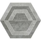 Paradyż Scratch dekoracja podłogowa Grys Heksagon C 26x29,8cm Mat