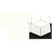 Paradyż Bianco mozaika Prasowana Romb Hexagon 20,4 x 23,8cm