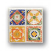 Tubądzin Majolika dekor ścienny Quartet 2 11,5x11,5 cm