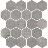 Paradyż Space mozaika Cięta Grafit heksagon Poler 25,8x28 cm