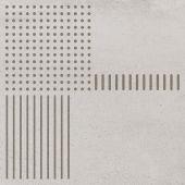 Paradyż Space dekor ścienno-podłogowy 29,8x29,8 cm inserto motyw A grys szary mat