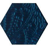 Paradyż Urban Colours dekor ścienny 19,8x17,1 cm szklany struktura niebieski poler