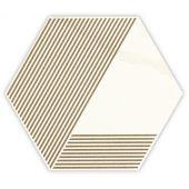 Paradyż Calacatta dekor ścienno-podłogowy 17,1x19,8 cm motyw A beż