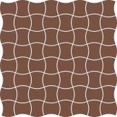 Paradyż Modernizm mozaika ścienno-podłogowa 30,9x30,9 cm prasowana brązowa