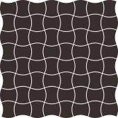 Paradyż Modernizm mozaika ścienno-podłogowa 30,9x30,9 cm prasowana czarna