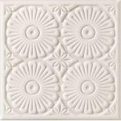 Tubądzin Majolika A dekor ścienny 20x20 cm STR szary mat