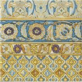 Tubądzin Majolika Intense A dekor ścienny 20x20 cm połysk
