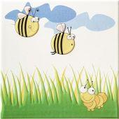 Tubądzin Pastel dekor ścienny 20x20 cm robaczki 2