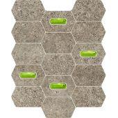 Tubądzin Lemon Stone mozaika ścienna 29,8x25 cm szary mat/zielony