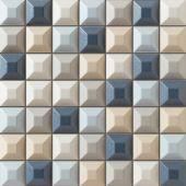 Tubądzin Elementary mozaika ścienna 31,4x31,4 cm niebieska