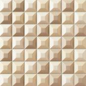 Tubądzin Elementary mozaika ścienna 31,4x31,4 cm kremowa