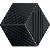 Tubądzin Colour mozaika ścienna 19,8x22,6 cm czarna