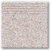 Tubądzin Tartan 8 stopnica podłogowa 33,3x33,3 cm STR różowy mat