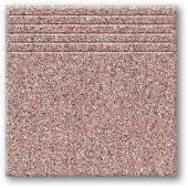 Tubądzin Tartan 9 stopnica podłogowa 33,3x33,3 cm STR bordowy mat
