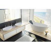 Hoesch Namur umywalka 50x30 cm nablatowa owalna biała 4410.010