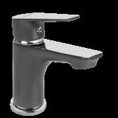Invena Dokos bateria umywalkowa stojąca grafit/chrom BU-19-005
