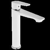 Invena Dokos bateria umywalkowa stojąca biała/chrom BU-19-W02
