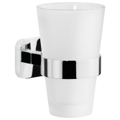 Tesa Elegaant szklanka z uchwytem bez wiercenia szkło/chrom 40443