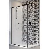 Radaway Modo New Black II Frame Walk-In ścianka prysznicowa 120 cm wolnostojąca szkło przezroczyste 389124-54-56