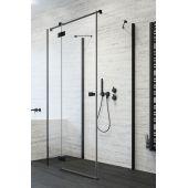 Radaway Essenza New Black KDJ+S drzwi prysznicowe 80 cm lewe szkło przezroczyste 385021-54-01L