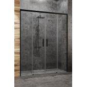 Radaway Idea Black DWD drzwi prysznicowe 200 cm wnękowe szkło przezroczyste 387120-54-01