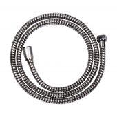 Invena wąż prysznicowy 150 cm z tworzywa Superflex chrom / czarny AW-30-JT6