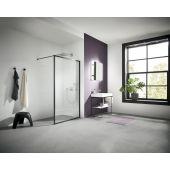Kermi Walk-In XD WW4 ścianka prysznicowa 120 cm profile czarny soft XDWW4120203PK