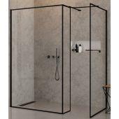 New Trendy New Modus Black ścianka prysznicowa Walk-In 80 cm boczna szkło przezroczyste EXK-0274
