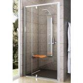 Ravak Pivot PDOP2 drzwi prysznicowe 110 cm obrotowe dwuelementowe polerowane aluminium + transparent 03GD0C00Z1