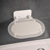 Ravak Ovo Chrome siedzisko prysznicowe białe B8F0000028