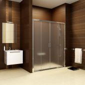 Ravak Blix drzwi prysznicowe przesuwne polerowane aluminium + transparent BLDP4-170 0YVV0C00Z1