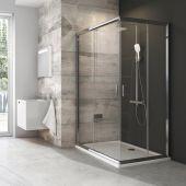 Ravak Blix BLRV2K-90 drzwi prysznicowe 90 cm przesuwne częściowe 1/2 polerowane aluminium/transparent 1XV70C00Z1