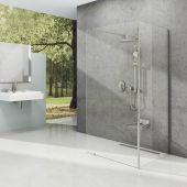 Ravak Corner ścianka prysznicowa Walk-In 120x90 cm polerowane aluminium/transparent GW1CG7C00Z1