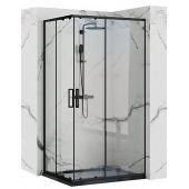 Rea Punto Black kabina prysznicowa 100x80 cm prostokątna szkło przezroczyste REA-K4806
