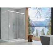 SanSwiss Cadura ścianka prysznicowa Walk-In 120 cm z elementem przesuwnym prawa srebrny połysk/szkło przezroczyste CAW2D1205007