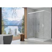 SanSwiss Cadura ścianka prysznicowa Walk-In 120 cm z elementem przesuwnym lewa srebrny połysk/szkło przezroczyste CAW2G1205007