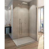SanSwiss Easy ścianka prysznicowa Walk-In 110 cm wolnostojąca szkło przezroczyste STR4P1105007
