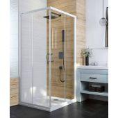 Sanplast Basic drzwi prysznicowe 80 cm szkło przezroczyste 600-450-0210-01-400