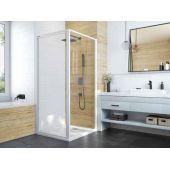 Sanplast Basic SS0/BASIC ścianka prysznicowa 80 cm dodatkowa szkło przezroczyste 600-450-1310-01-400