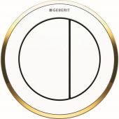 Geberit Typ10 przycisk spłukujący WC pneumatyczny ręczny biały/pozłacany 116.057.KK.1