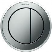 Geberit Typ10 przycisk spłukujący WC pneumatyczny ręczny chrom mieszany 116.057.KH.1