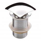 Deante Click-Clack korek kwadratowy z przelewem do umywalki chrom NHC011B