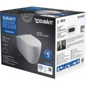 Duravit ME by Starck miska WC Rimless wisząca z deską wolnoopadającą białą 45290900A1
