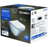 Duravit DuraStyle miska WC Rimless wisząca z deską wolnoopadającą białą 45510900A1 (2551090000,006379000)