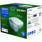 Duravit D-Code miska WC wisząca Rimless z deską wolnoopadającą białą 45700900A1 (25700900002,0067390000)