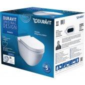 Duravit Starck 3 zestaw WC miska wisząca Rimless z deską wolnoopadającą 45270900A1 (25270900A0,0063890000)