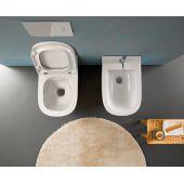 Globo Stockholm miska WC wisząca biała LAS04.BI