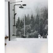 Radaway Essenza New Black PND parawan nawannowy 100 cm lewy szkło przezroczyste 10002100-54-01L