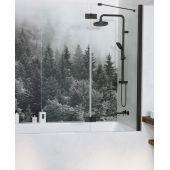 Radaway Essenza New Black PND parawan nawannowy 100 cm prawy szkło przezroczyste 10002100-54-01R